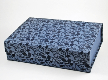 Memorybox Bladprint, donkerblauw